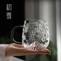 heat resistant glass coffee cup transparent summer modern cups drinking glass water party copas de vino nordic drinkware bk50bl