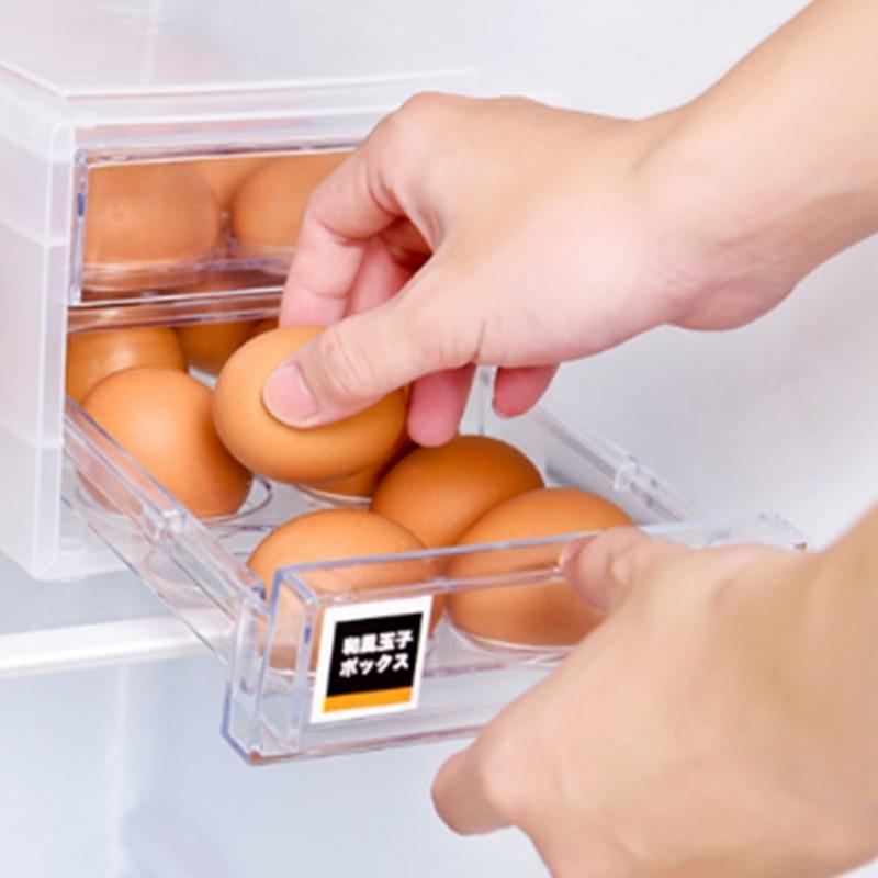 1 قطعة البلاستيك البيض الحاويات حالة الثلاجة الطازجة تخزين تراثية أدوات المطبخ المحمولة البرية نزهة البيض المنظم البيض مربع