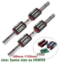 Xy-rail de guidage linéaire HGH15 HGR15   15mm, ensemble de tiges de guidage + 4 pièces, bloc de roulement coulissant HGH15CA /flang HGW15CC pour pièces