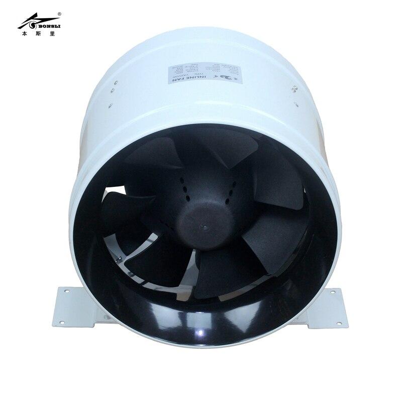 10-дюймовый водостойкий удлинитель IP68, встроенный воздуховод, вентилятор, вентиляция, вентиляция, 220 В, большой куб ФТ/мин