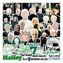 50pcs Actor Draco Malfoy Cartoon Stickers Classic Toy Decoration Computer Skateboard Suitcase PVC Waterproof Decal Reusable