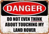 do not even think about touching my land rover metal tin signs warning hanging vintage poster animal celebrity bar cafe garden