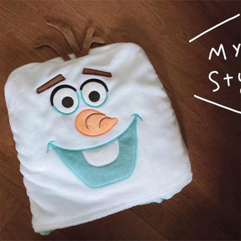 Cobertor dos desenhos animados da disney bonito olaf xale capa bebê nap cobertor com capuz capa pequena cobertor decorações de natal para casa