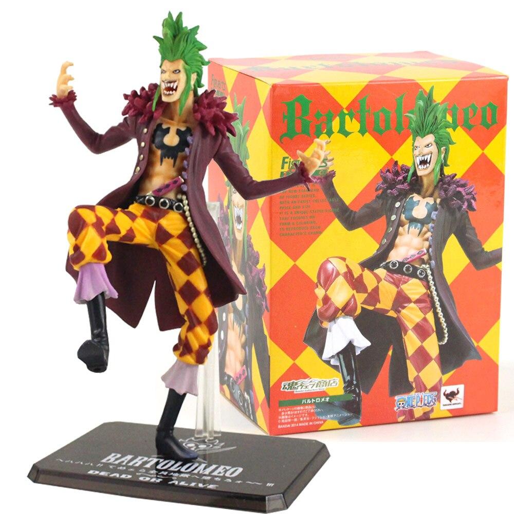 18cm uma peça bartolomeo boneca pvc bartolomeo uma peça figuras de ação pvc anime collectible modelo brinquedos presente para crianças