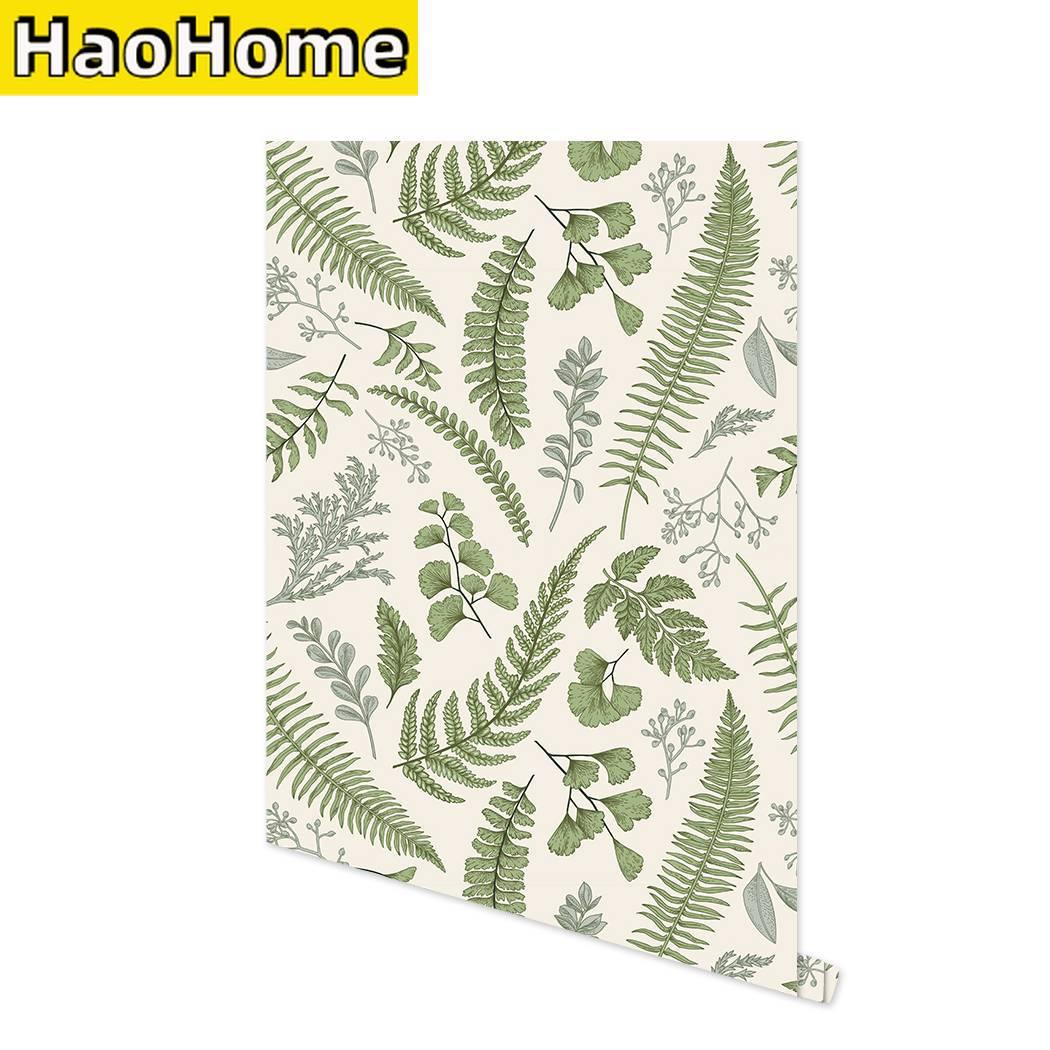 Фотобумага для стен, самоклеящаяся бумага для стен, фотобумага с зелеными листьями, самоклеящаяся бумага для стен, съемная контактная бумаг...