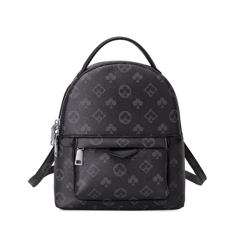 Luxury Print Design Female Backpack Women Bag Korean Fashion Women's Backpack Large Capacity High Quality PU Travel Bag