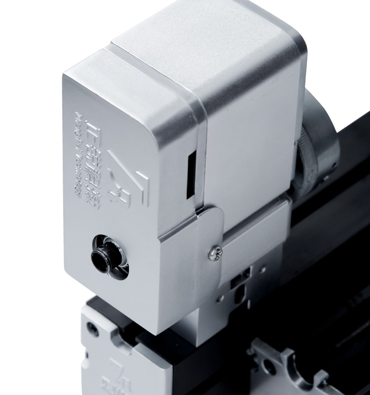 36W Enhanced Miniature Metal Lathe 50mm Center Height Mini DIY Lathe for Processing Aluminum,Wood, Plastic Materials enlarge