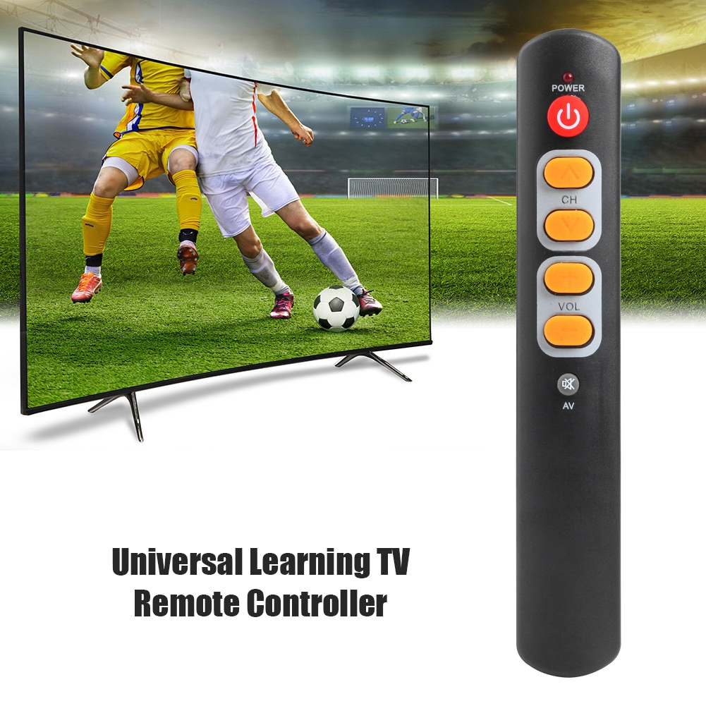 Copy IR Remote for TV STB Universal 6 Big Yellow Button Learning Remote Control Electronic Smart Home Accessories