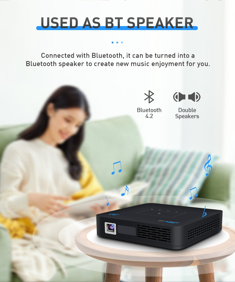 2021 Smart 3D P15 Projector 4K HD DLP Android 9.0 WIFI2.4/5G  LED Portable Home Office 4GB+32G 1920*1080P Mini MicroHD Projector