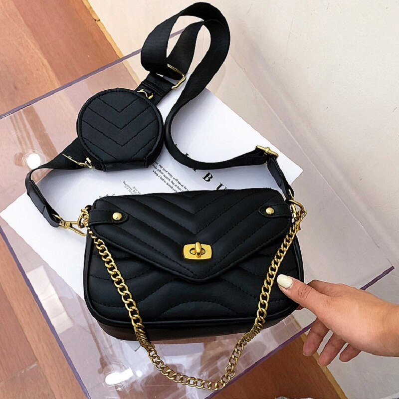 S.IKRR Woman Bag Designer Bags Women 2 Pcs/Set Composite Bags 2020 Female Leather Handbag Shoulder Messenger Bag bolsa feminina
