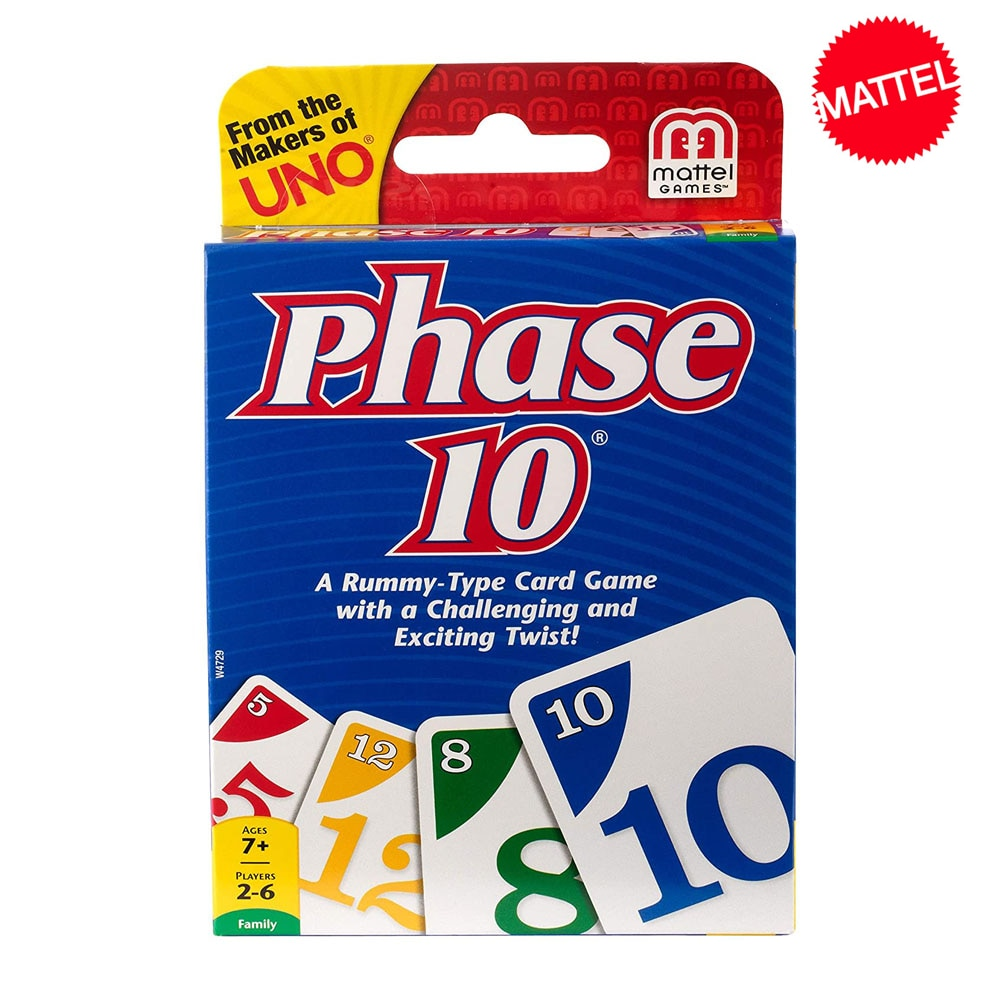 Mattel jogos uno fase 10 jogo de cartas multiplayer festa da família jogando cartas partys crianças brinquedos