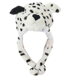 JOYHY Kid's Cute Earflap Plush White Snow Leopard Animal Hats Women Teenagers Boys Girls Halloween Christmas Cosplay Beanie Caps