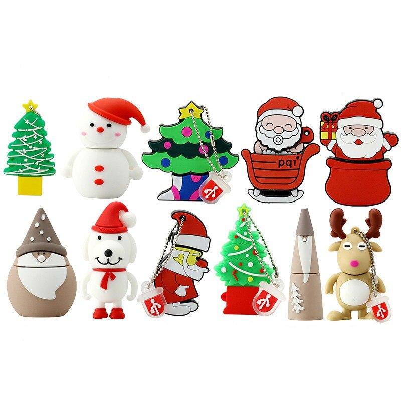 Classic Christmas Tree Santa Pen Drive 512GB Usb Flash Drive 256G High Speed 2.0 Flash Memory Card 128GB Flash Usb Disk Pendrive