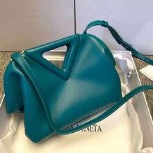 2021ฤดูร้อนใหม่หนังกระเป๋าถือ Multicolor สามเหลี่ยมกระเป๋า Messenger กระเป๋าแฟชั่นกระเป๋าถือหญิงกระเป๋า...
