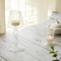 european style table lamp glass candlestick living room home decoration personalized wedding centerpieces glass candle holder