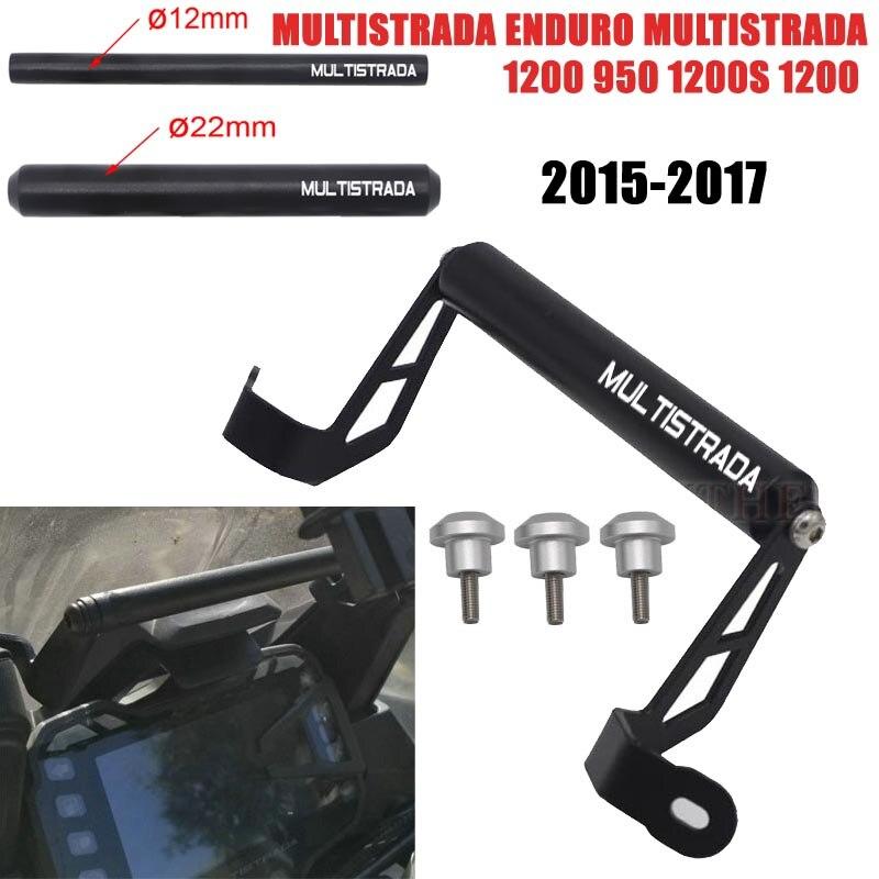 Soporte adaptador de soporte de montaje de navegación GPS para Ducati Multistrada 950 1200S 1200 Enduro 2015 2016 2017