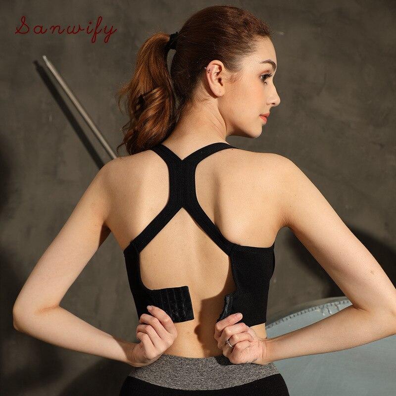 Neue Hinten-breasted Einstellbare Stoßfest Sammeln Laufschuhe Frauen Sport Bhs Fitness Gym Yoga Workout Bh Sport-Bh Top