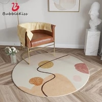 bubble kiss furry round carpets for bedroom abatract art print living room area rugs fluffy home decorative floor anti slip mat