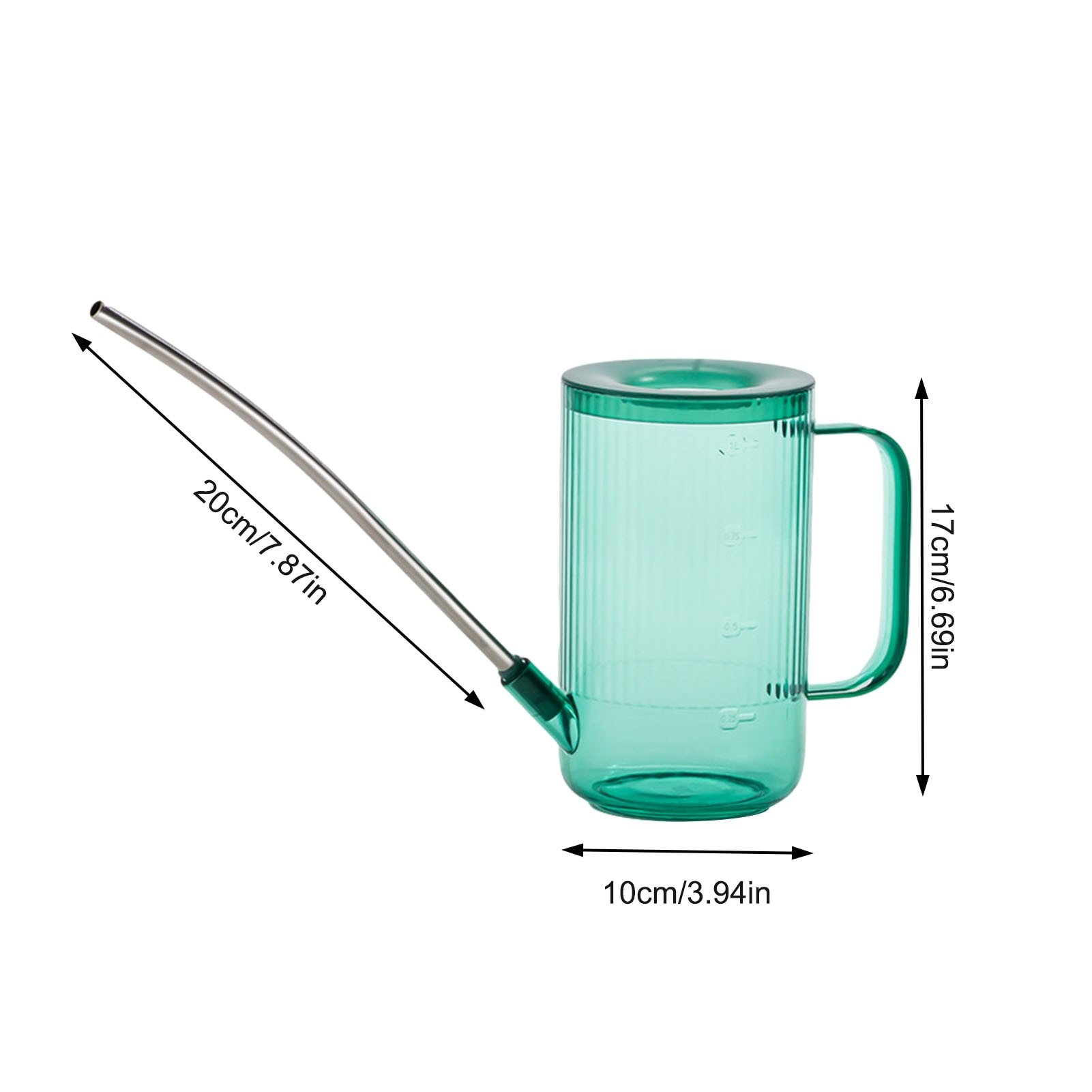 1L Long Mouth Watering Can Pouring Pot Watering Can Watering Flower Plants Shower Removable Watering Device Garden Tool