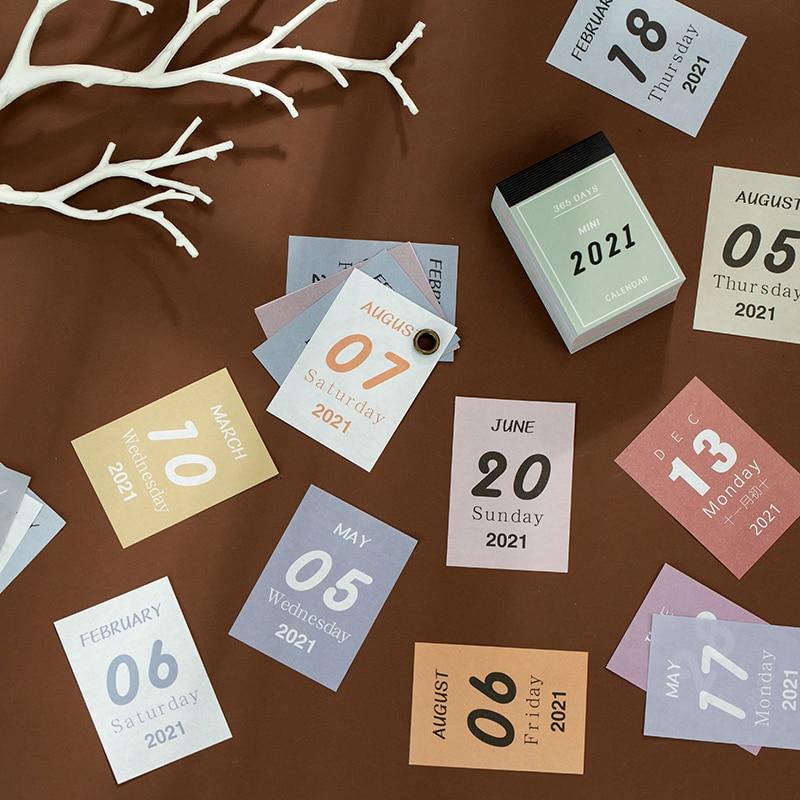2021 calendar The New Mini Desk calendar for school schedule 2020 2021 office supplies planner Paper Tearable недорого