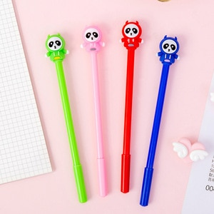 20 Pcs Creative Hoodie Panda Cartoon Student Neutral Pen Student Creative Signature Pen Wholesale Material Escolar