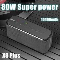 Беспроводная Bluetooth Колонка XDOBO X8 Plus, портативная звуковая колонка высокой мощности 80 Вт, сабвуфер для зарядного бумбокса мобильный телефон