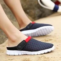 wcbod men summer garden sandal 2020 woman mesh breathable padded beach flops shoes shower slippers