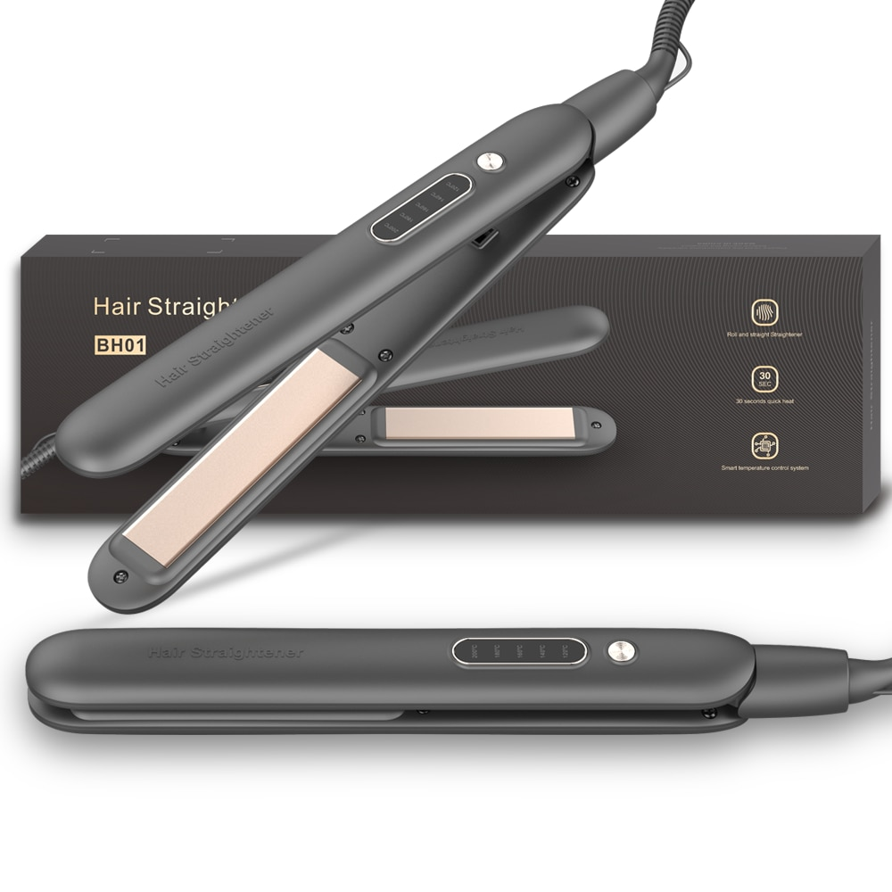 New Hair Straightener with LCD Display Dual-use for Curling and Straightening Fast Thermal Styling T