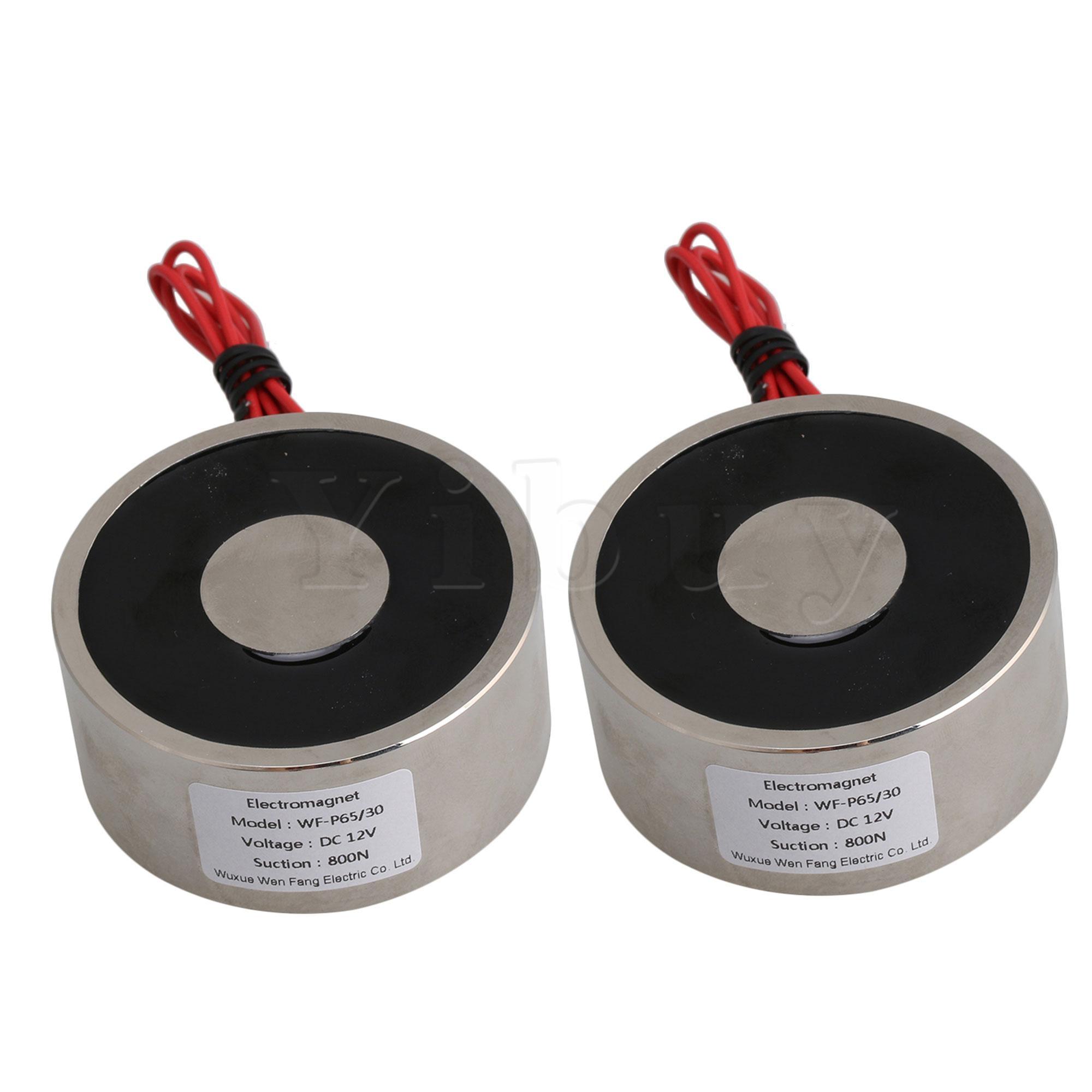 2 قطعة DC12V عقد المغناطيس الكهربائي 80 كجم الملحقات الكهربائية