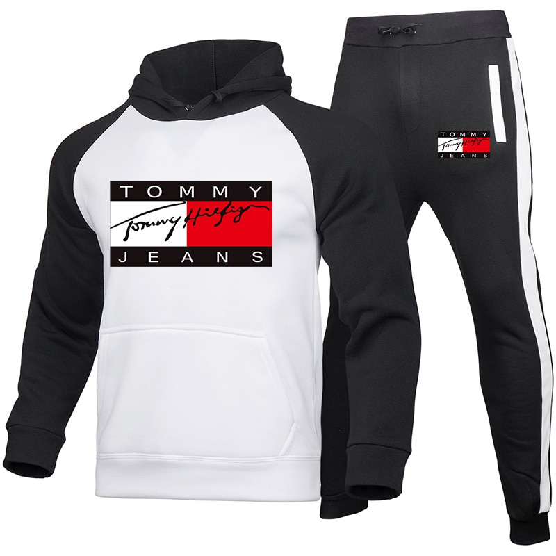 New Brand Casual Tracksuit Men Sets Hoodies+Pants Two Piece Sets print Hooded Sweatshirt Outfit Sportswear Male Suit Clothing21