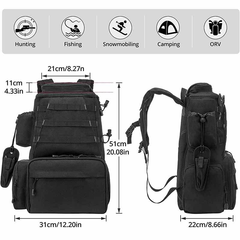 Fishing Gear Bag Two Shoulder Oxford Waterproof Sea Fishing Large Capacity Bait Bags Fishing Gears Backpack enlarge