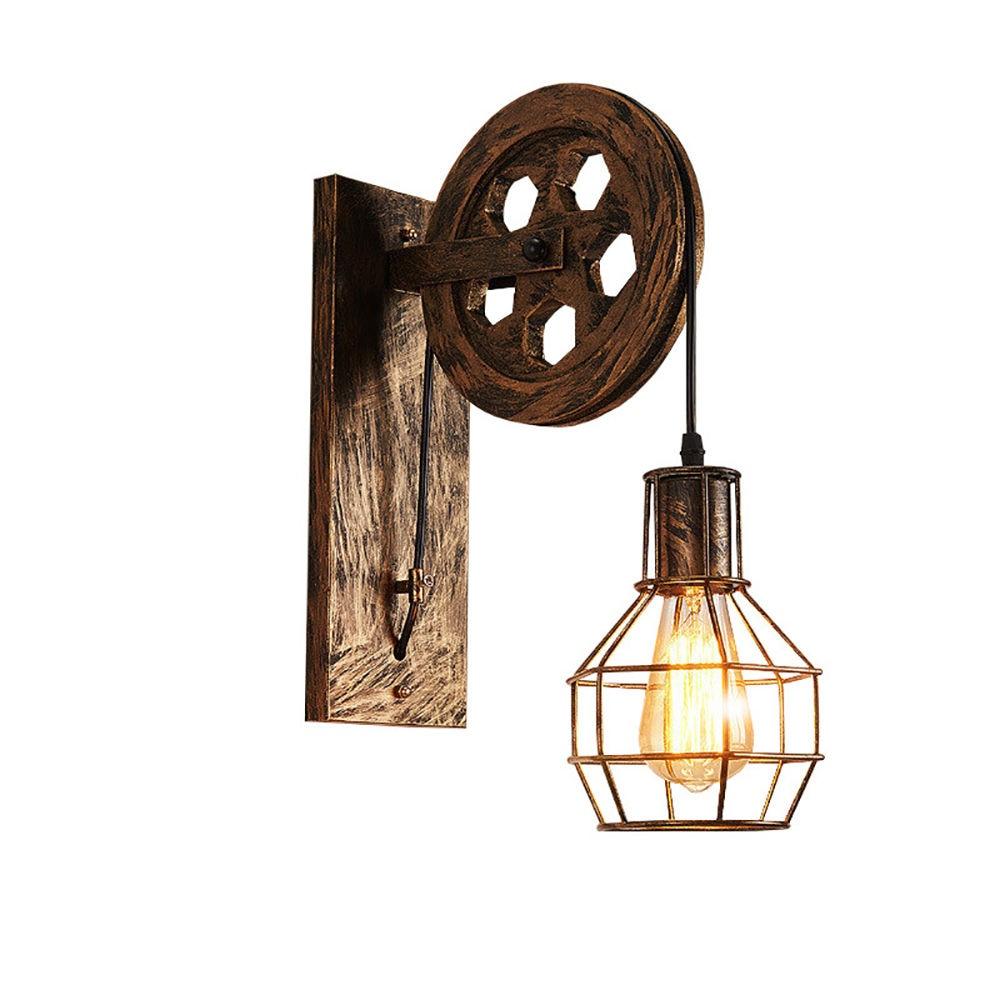 Retro pared Vintage luz lámpara de pared Industrial accesorio para cortina de...