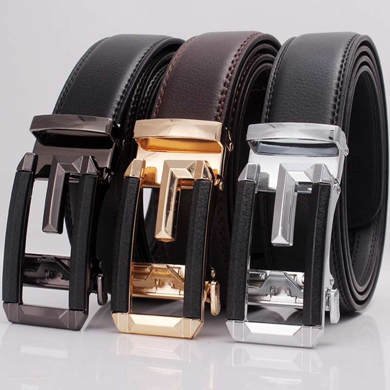 TJ-TingJun Hot Sell New style Mens Leather Belt Automatic Buckle Business Youth Trend Fashion Casual Strap