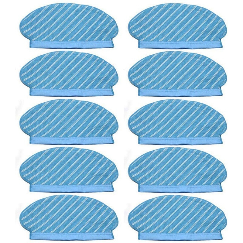 10Pcs Mop Cloth Pads Set for Ecovacs Deebot Ozmo 920 950 Vacuum Cleaner Parts Replacement Home Acces