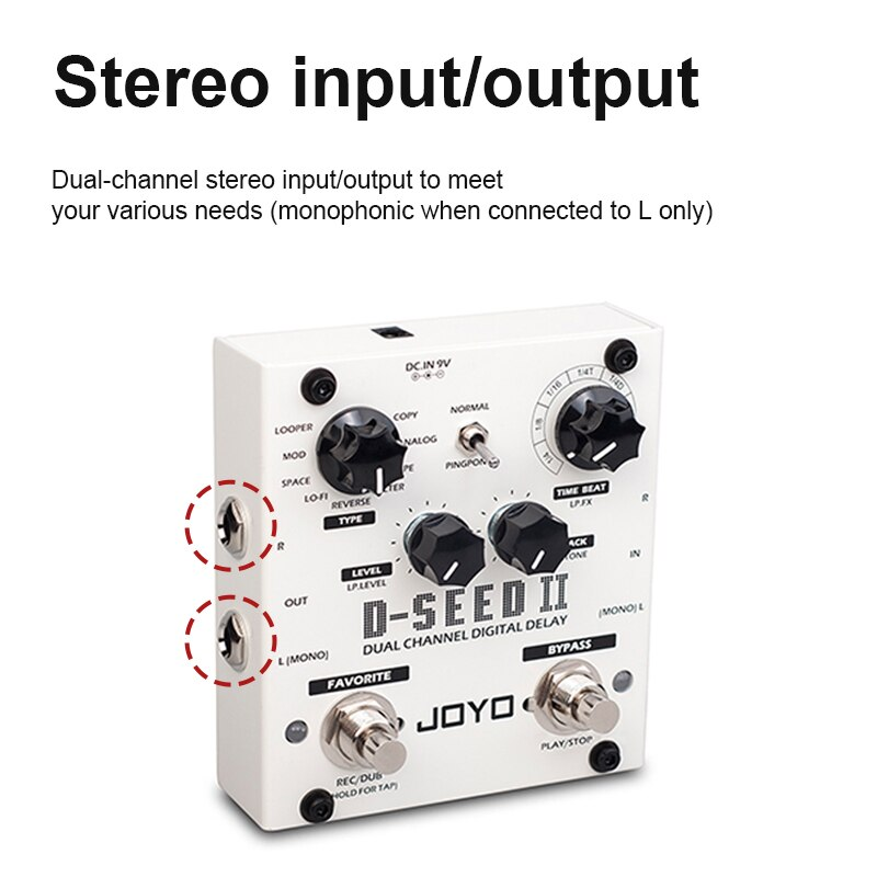 Stereo Delay With Double Pedals Effector 8 Step Delay Mode Guitar Effects Support Favorite Function Electric Guitar Effects enlarge