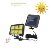 seperable 120 cob outdoor led solar wall lamp pir motion sensor waterproof solar light fluorescent lamps garden decoration indoo