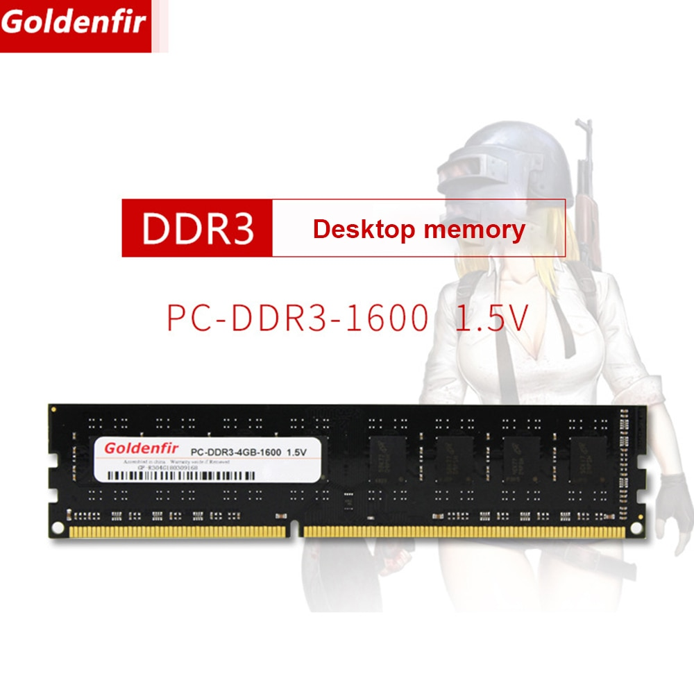Goldenقطعالتنوب DDR3 ذاكرة عشوائية RAM 4/8 جيجابايت 240Pin كمبيوتر مكتبي ذاكرة الكمبيوتر اللوحة 1333/1600 ميجا هرتز لا ECC 1.5 فولت DDR3 ذاكرة عشوائية وحدة