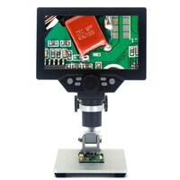 G1200 Digital Microscope 7 Inch Large Color Screen Large Base LCD Display 12MP 1-1200X Continuous Amplification Magnifier