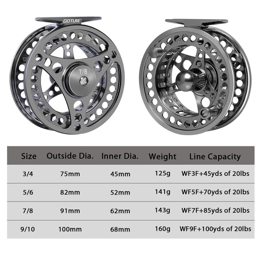 3/4 5/6 7/8 9/10 WT Fly Fishing Reels CNC-machined Large Arbor Fly Reel 2+1BB 1:1 For Trout Fishing Accessories enlarge