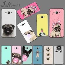 Pug cute animal dog DIY Printing Phone Case cover For Samsung Galaxy J2 J4 J5 J6 J7 J8 2016 2017 2018 Prime Pro plus Neo duo