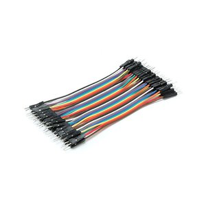 Super Long Color Breadboard Cable Jump Wire Jumper For Arduino 2.54mm 1p-1p Pin Male to Male