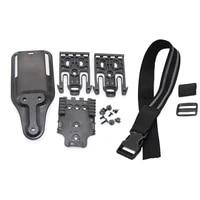 tactical safa drop leg holster quick locking system kit qls 19 22 gun holster thigh waist belt platform for glock 17 beretta m9