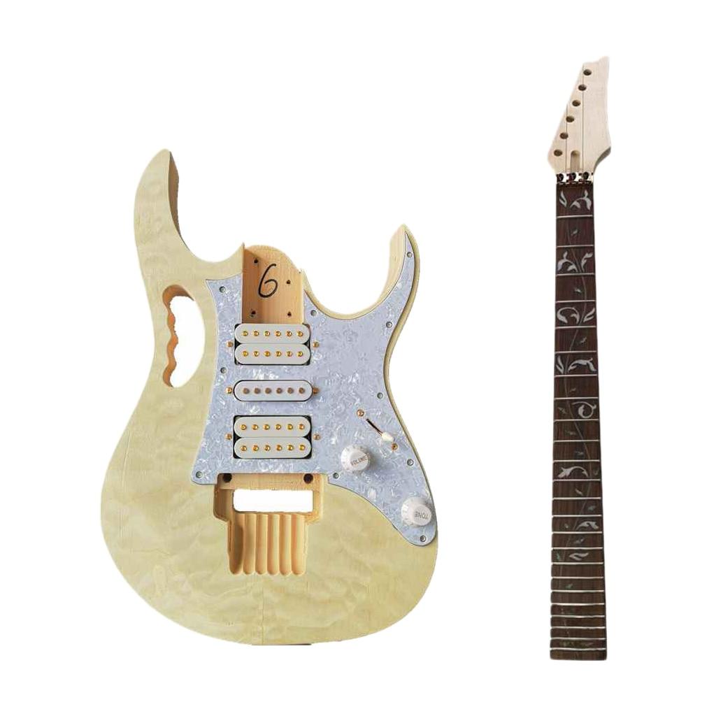 1pc   DIY   Electric   Guitar   Kit   Water      Veneer   Guitar enlarge