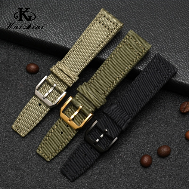 Nylon canvas watch Brand Nato Strap Canvas Nylon Watchbands 20mm 21mm 22mm Black Green High Qualiyt watch strap with accessories