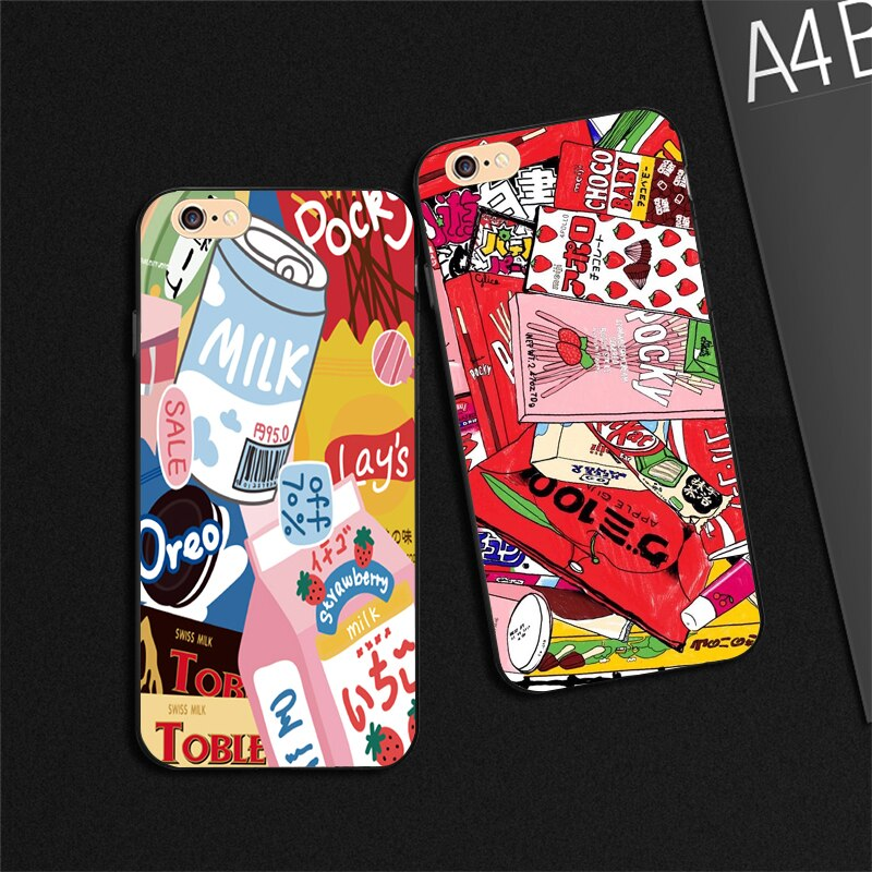 Funda para teléfono Yinuoda Kawaii con botella de leche de fresa japonesa para Apple iPhone 8 7 6 6S Plus X XS MAX 5 5S SE XR