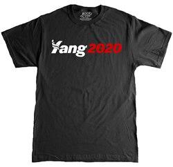 Andrew yang presidente 2020 eleição t 100 algodão masculino gráfico t camisa