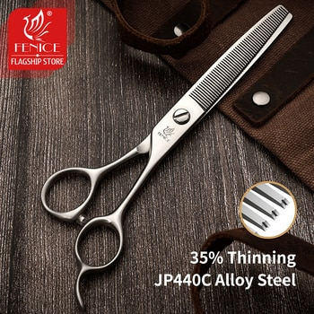 Fenice 6.5inch Thinning Scissors Japan 440C Pet Grooming Shears Thinning Rate 35% Dog Pets Supplies Groomer Tools
