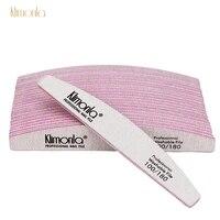 50pcs klimonla 100180 grit gray nail file double side uv gel polish manicure art salon tool beauty accessories wholesale