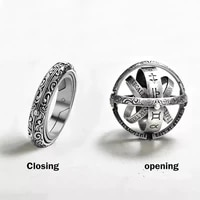 2021 hot punk ring set vintage astronomical ball rings for women men creative complex rotating cosmic finger ring jewelry