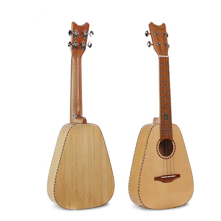 High Quality 23 inch Ukulele 4 Strings Grade A Spruce Wood Veneer Ykulele Hawaii Guitar With Bag enlarge